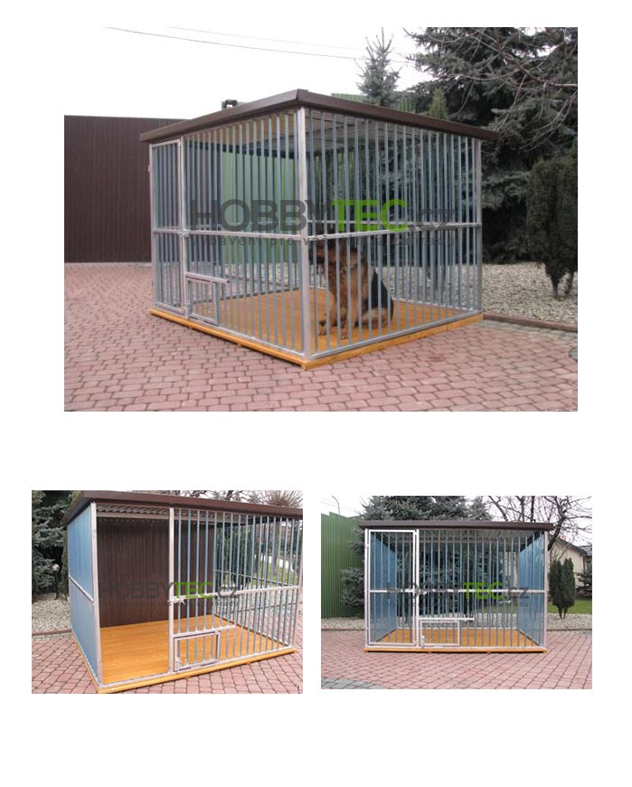 686a8ba2324 Kotec pro psa 2x3m s podlahou